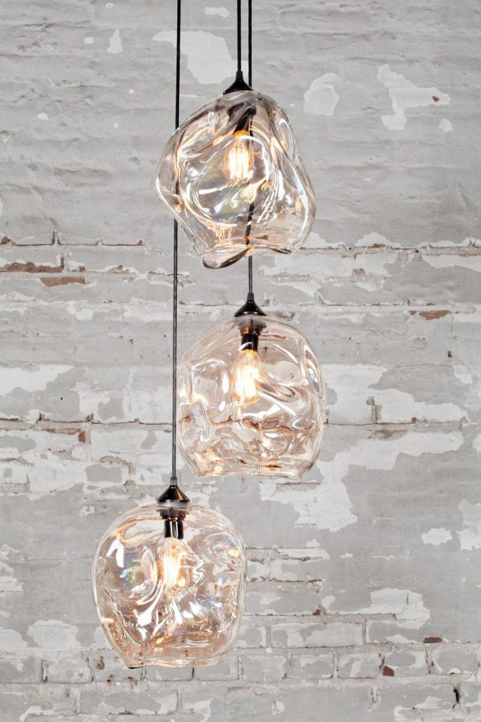 lámpara vidrio soplado